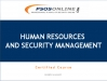 Human Resources and Security Management